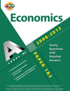 GCE 'A' Level Ten Year Series H2 Economics